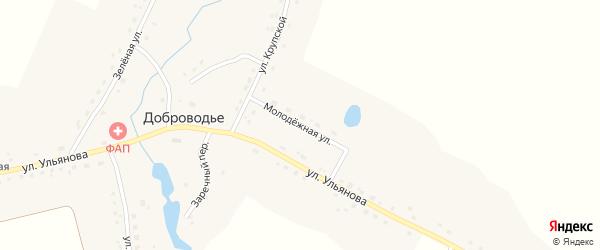 Молодежная улица на карте села Доброводья с номерами домов