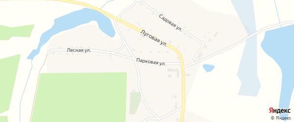 Парковая улица на карте поселка Красного с номерами домов