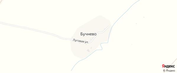 Луговая улица на карте деревни Бучнево с номерами домов