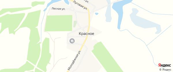 Карта поселка Красного в Брянской области с улицами и номерами домов