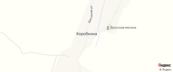 Ивановская улица на карте деревни Коробкиной с номерами домов