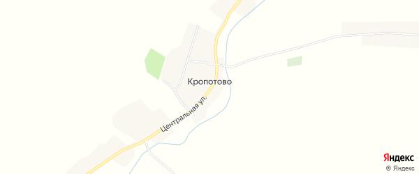 Карта села Кропотово в Брянской области с улицами и номерами домов