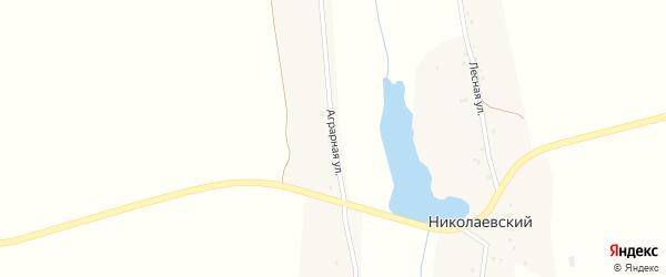 Аграрная улица на карте Николаевского поселка с номерами домов