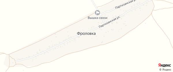Партизанская улица на карте деревни Фроловки с номерами домов