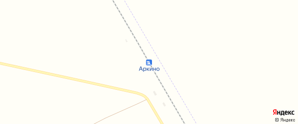 Железнодорожная улица на карте железнодорожной станции Аркино с номерами домов