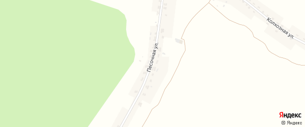 Песочная улица на карте села Журиничей с номерами домов