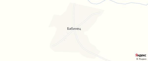 Лесная улица на карте деревни Бабинца с номерами домов