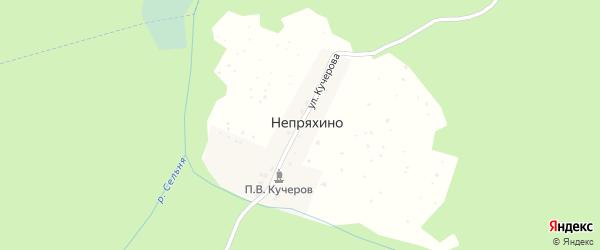 Улица Кучерова на карте деревни Непряхино с номерами домов
