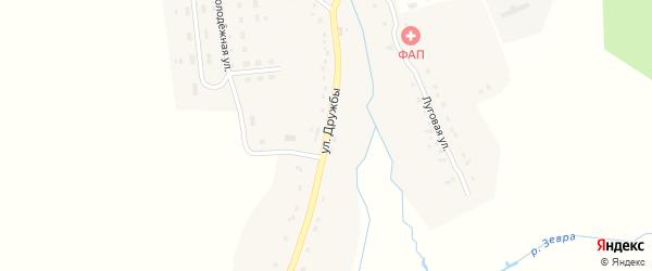 Улица Дружбы на карте деревни Осотского с номерами домов