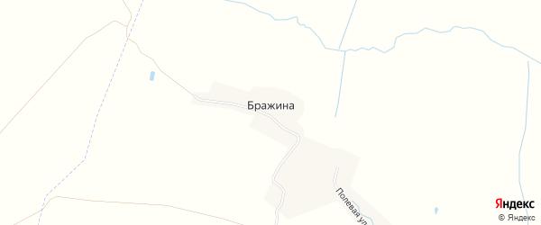Карта деревни Бражины в Брянской области с улицами и номерами домов
