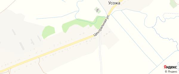 Центральная улица на карте села Усожи с номерами домов