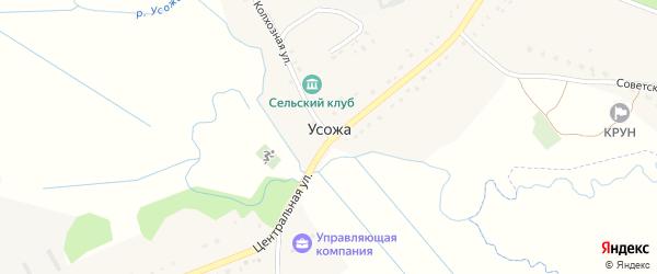 Железнодорожная улица на карте железнодорожного разъезда Усожи с номерами домов