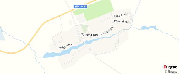 Карта Заречной деревни в Брянской области с улицами и номерами домов