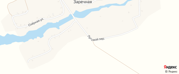Луговой переулок на карте Заречной деревни с номерами домов