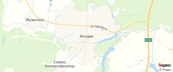 Карта Жиздры с районами, улицами и номерами домов