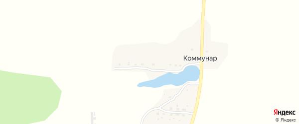 Приозерная улица на карте поселка Коммунара с номерами домов