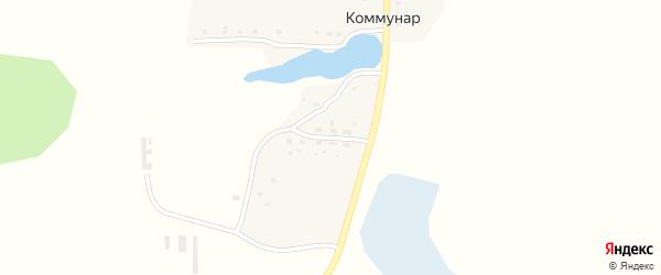 Набережная улица на карте поселка Коммунара с номерами домов