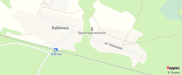 Улица Кравцова на карте деревни Бабинки с номерами домов