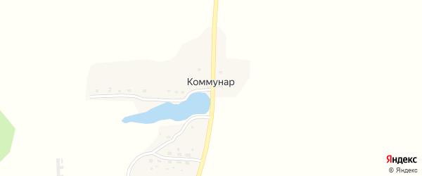 Центральная улица на карте поселка Коммуны с номерами домов