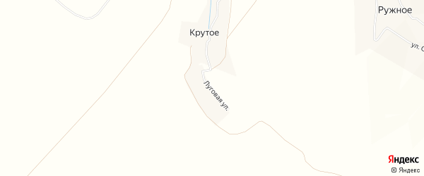 Карта поселка Крутого в Брянской области с улицами и номерами домов