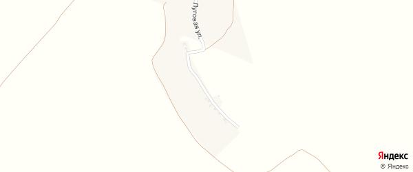Луговая улица на карте поселка Крутого с номерами домов