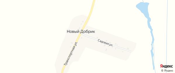 Садовая улица на карте поселка Нового Добрика с номерами домов