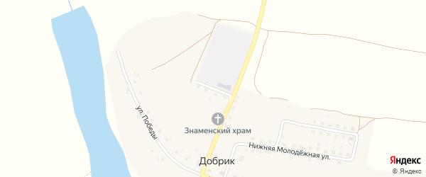 Школьная улица на карте села Добрика с номерами домов