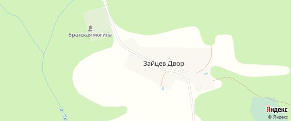 Луговая улица на карте поселка Зайцева Двора с номерами домов