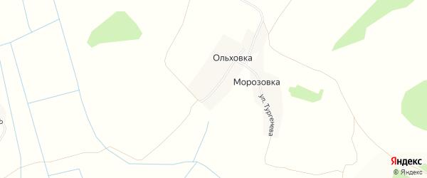 Карта деревни Ольховки в Брянской области с улицами и номерами домов