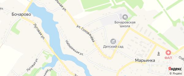 Улица Головачева на карте поселка Марьинки с номерами домов