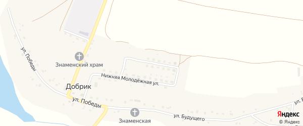 Верхняя Молодежная улица на карте села Добрика с номерами домов