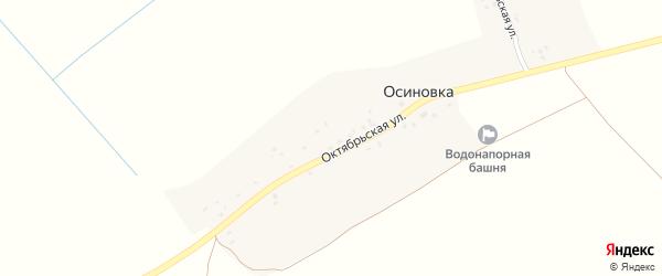 Октябрьский переулок на карте деревни Осиновки с номерами домов