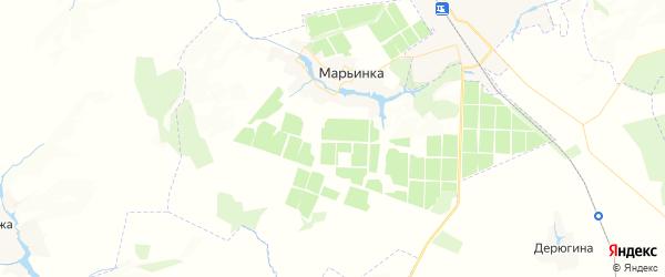 Карта территории Марьинского сельского поселения Брянской области с районами, улицами и номерами домов