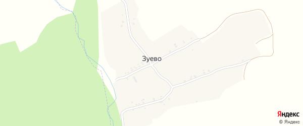 Лесная улица на карте поселка Зуево с номерами домов