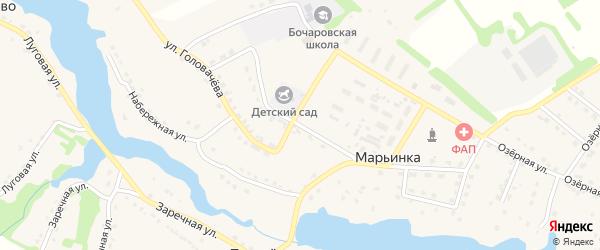 Улица 70 лет Октября на карте поселка Марьинки с номерами домов