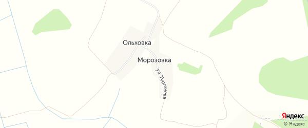 Карта деревни Морозовки в Брянской области с улицами и номерами домов