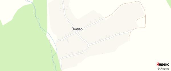 Рабочая улица на карте поселка Зуево с номерами домов