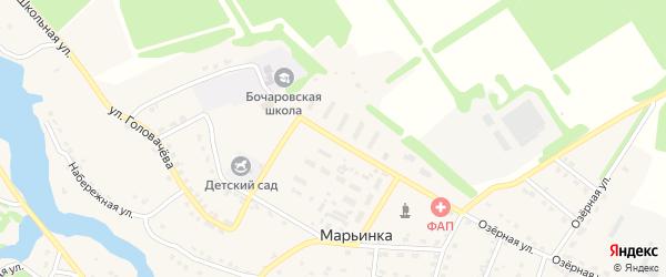 Улица Мичурина на карте поселка Марьинки с номерами домов