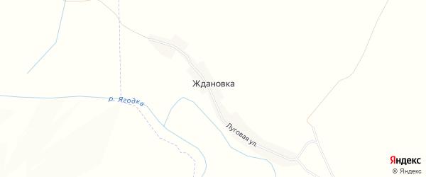 Карта деревни Ждановки в Брянской области с улицами и номерами домов