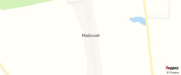 Майская улица на карте Майского поселка с номерами домов