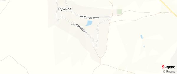 Карта Ружного села в Брянской области с улицами и номерами домов