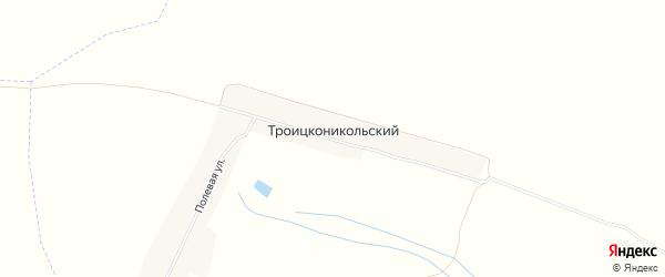 Карта Троицконикольского поселка в Брянской области с улицами и номерами домов