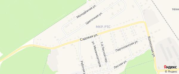 Садовая улица на карте поселка Комаричей с номерами домов