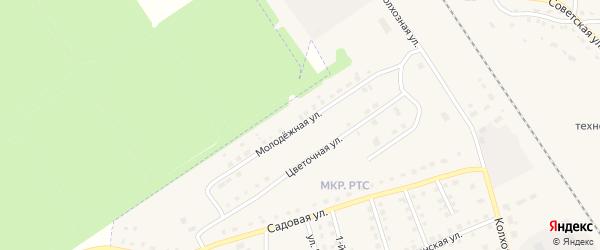 Молодежная улица на карте поселка Комаричей с номерами домов