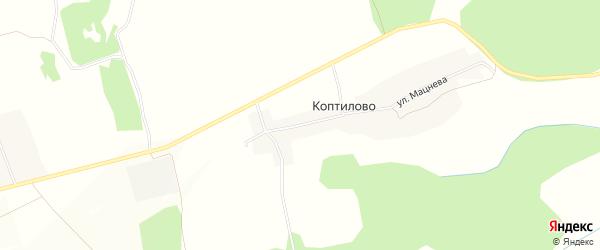 Карта деревни Коптилово в Брянской области с улицами и номерами домов