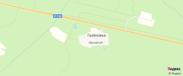 Карта поселка Газеновки в Брянской области с улицами и номерами домов