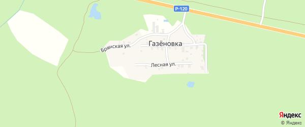 Лесная улица на карте поселка Газеновки с номерами домов