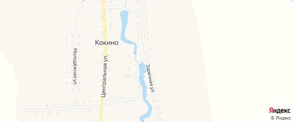 Заречная улица на карте деревни Кокино с номерами домов