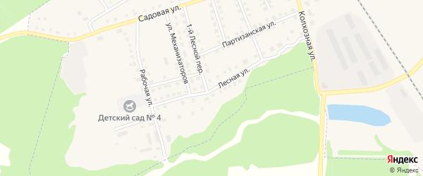 Лесная улица на карте поселка Комаричей с номерами домов