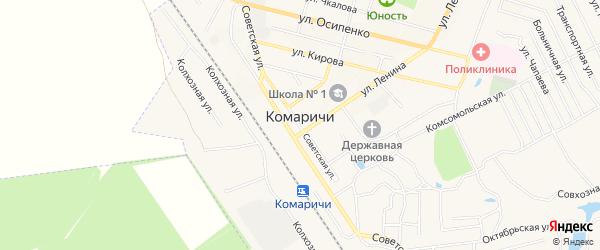 Карта поселка Комаричей в Брянской области с улицами и номерами домов